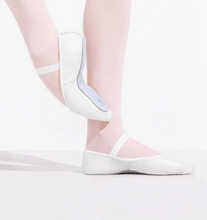 Load image into Gallery viewer, daisy full sole leather ballet shoe in white for beginner ballerinas.
