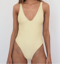 Load image into Gallery viewer, BOND ICONIC ONE PIECE / Yellow, high cut leg and deep scoop back and front.GERRY CAN
