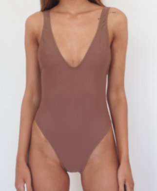 BOND ICONIC ONE PIECE / Nude colour, high cut leg and deep scoop back and front one piece swimsuit.GERRY CAN