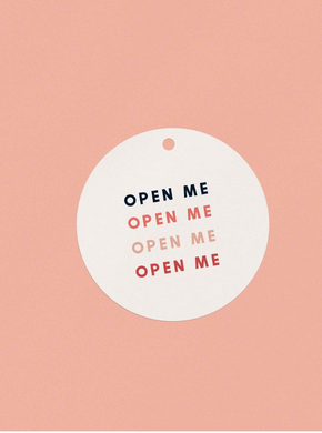 OH EM GEE PAPER: OPEN ME GIFT TAG