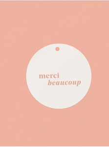 OH EM GEE PAPER: MERCI BEAUCOUP GIFT TAGS