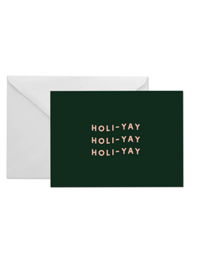 OH EM GEE PAPER: HOLIYAY GREETING CARD