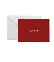 Load image into Gallery viewer, OH EM GEE PAPER: WITH LOVE GREETING CARD