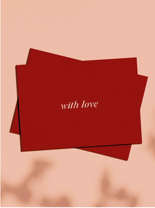 OH EM GEE PAPER: WITH LOVE GREETING CARD