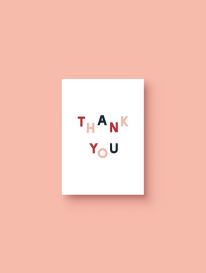 OH EM GEE PAPER: THANK YOU CARD - multicoloured