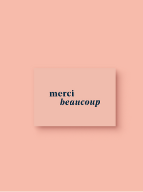 OH EM GEE PAPER: MERCI BEAUCOUP THANK YOU CARD