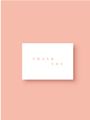 OH EM GEE PAPER: THANK YOU GREETING CARD