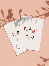 Load image into Gallery viewer, OH EM GEE PAPER: THANK YOU CARD - multicoloured