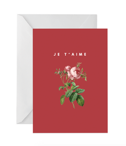 OH EM GEE PAPER: JE T'AIME GREETING CARD