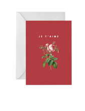 Load image into Gallery viewer, OH EM GEE PAPER: JE T'AIME GREETING CARD