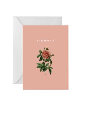 OH EM GEE PAPER: L'AMOUR GREETING CARD