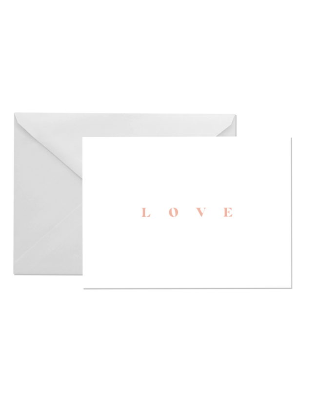 OH EM GEE PAPER:LOVE GREETING CARD