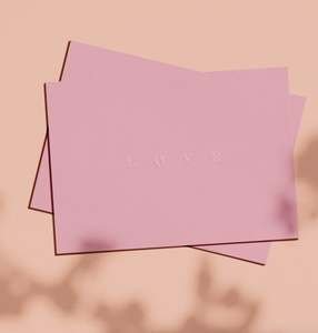 OH EM GEE PAPER: LOVE BLIND EMBOSS GREETING CARD