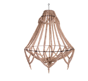 Ecora 2.0 Boho Detailed Beaded Boho Chandelier in Natural