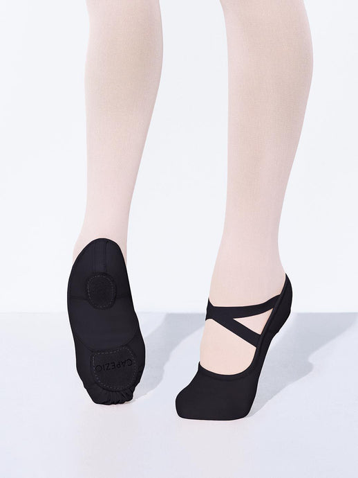 capezio hanami ballet shoes black stretch canvas