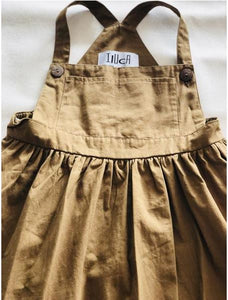 iluca the label (1915) Justice Natural Pinafore in Tan