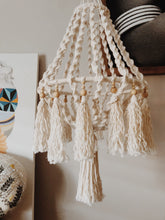Load image into Gallery viewer, Macrame and Bead twisted large hanger pendant