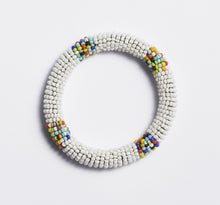 Load image into Gallery viewer, Odisya- White Maasai Bangle