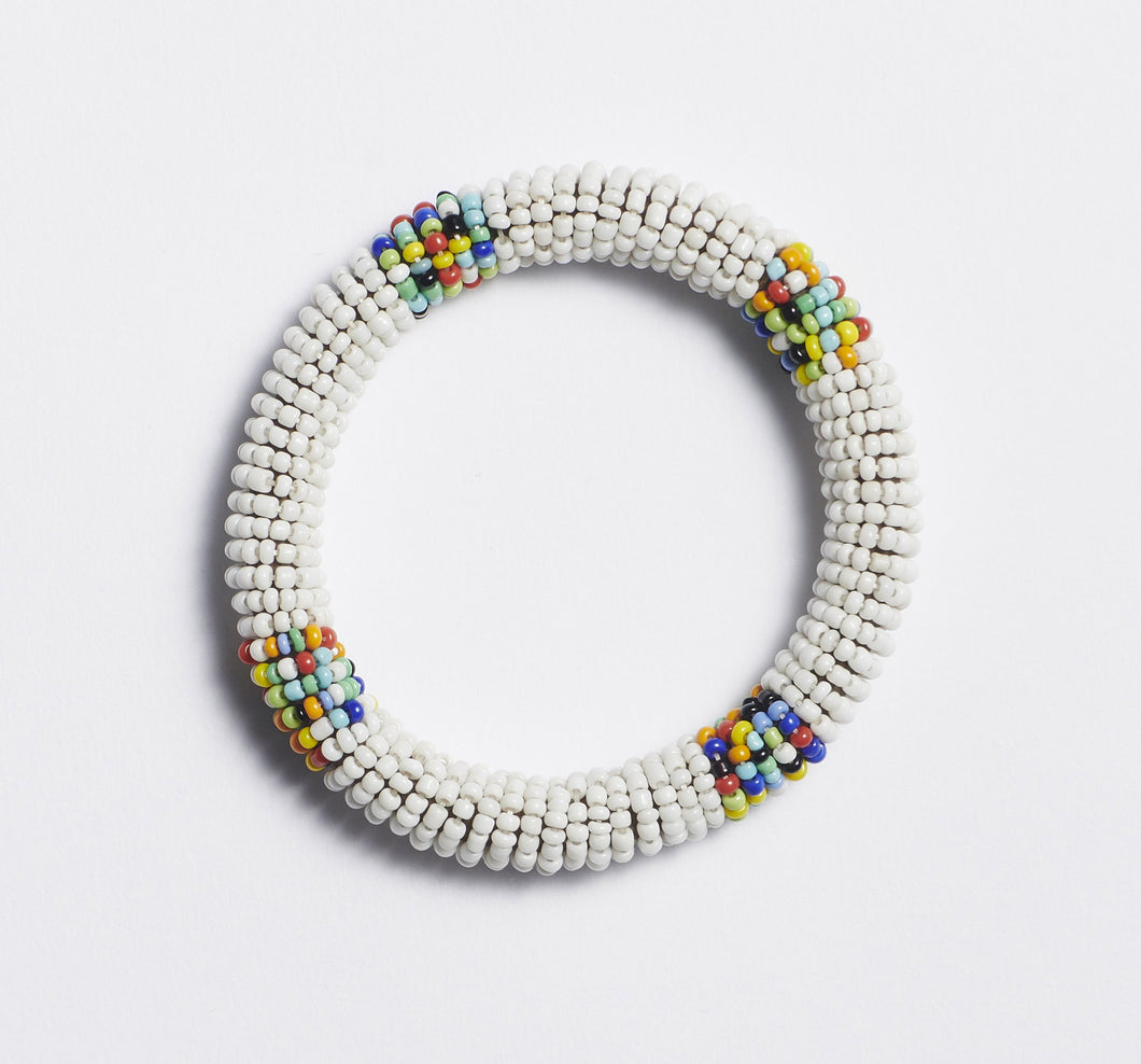 Odisya- White Maasai Bangle
