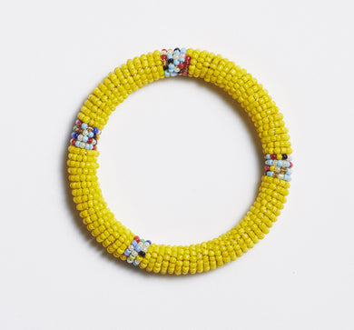 Odisya- Yellow Maasai Bangle