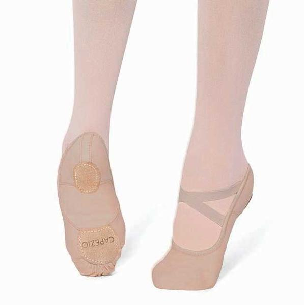 capezio hanami ballet shoes tan stretch canvas