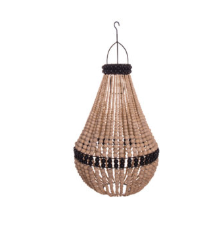 My Store - Pendant Drop Beaded Chandelier Natural with Black