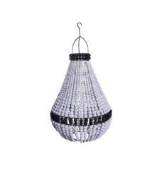 My Store - Pendant Drop Beaded Chandelier White + Black