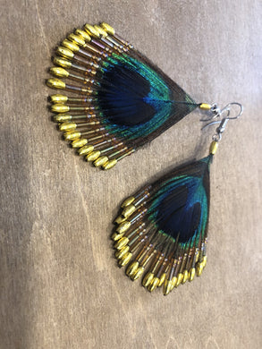 Peacock Handmade Tassel Earrings