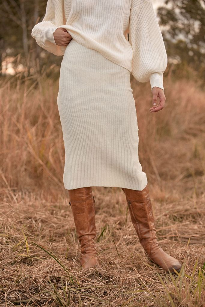 Arianne Skirt in Ivory by Before anyone else