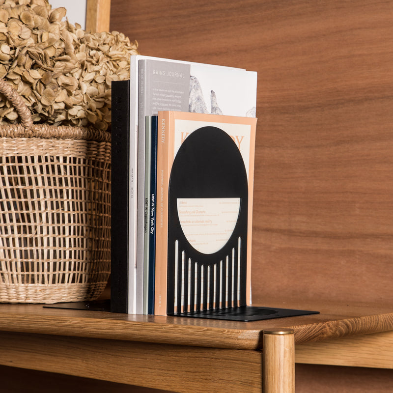 FOLD Arch Bookends ∙ Black