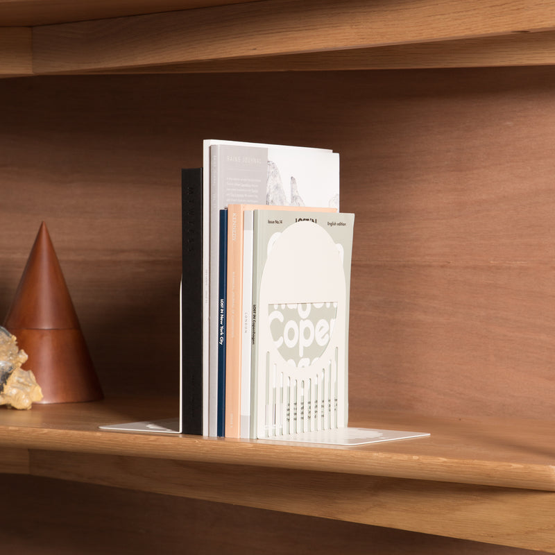 FOLD Arch Bookends ∙ White