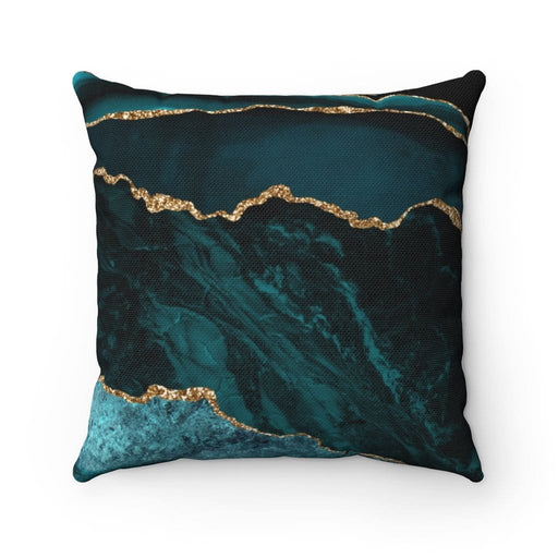 Dark Marble Square Pillow - Vizionaryfocus Top Shelf