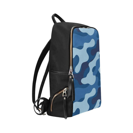 blue camo Unisex Slim Backpack - Vizionaryfocus Top Shelf