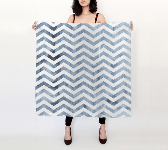 Distressed Denim Chevron Scarf - Vizionaryfocus Top Shelf