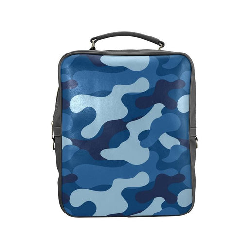 blue camo Square Backpack - Vizionaryfocus Top Shelf