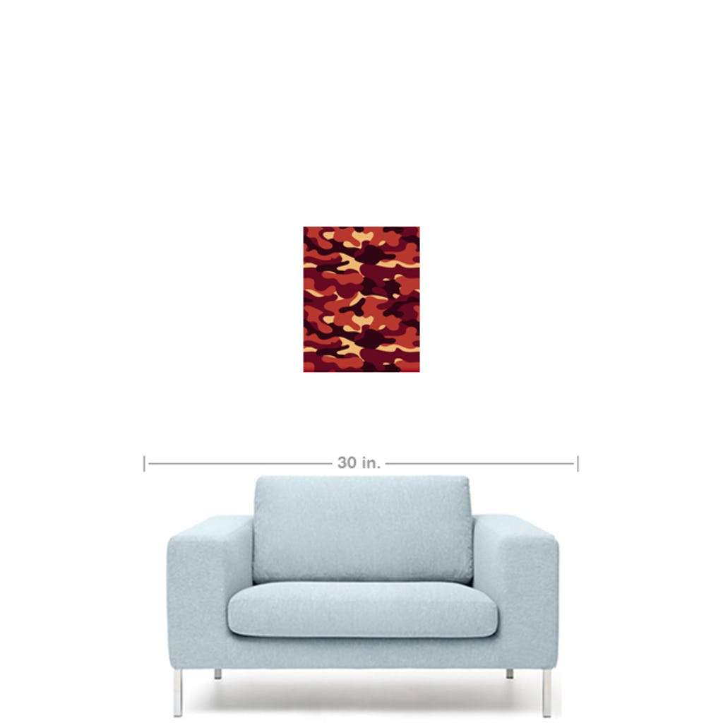 Red Camo canvas print