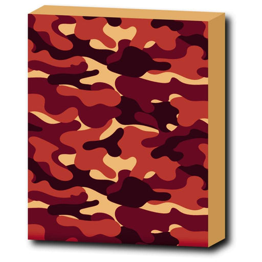 Red Camo canvas print - Vizionaryfocus Top Shelf