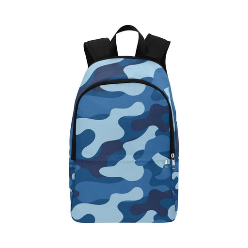 blue camo Fabric Backpack for Adult - Vizionaryfocus Top Shelf