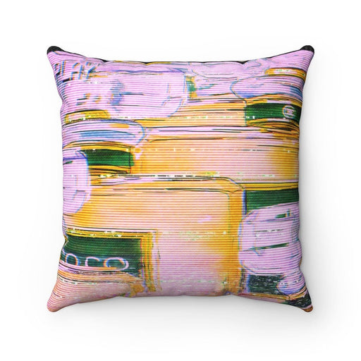 Spun Polyester Square Pillow - Vizionaryfocus Top Shelf