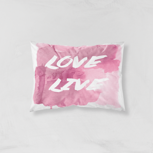 Love & Live pillow sham - Vizionaryfocus Top Shelf