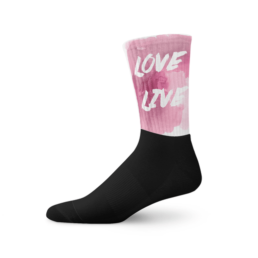 Love & Live  socks - Vizionaryfocus Top Shelf