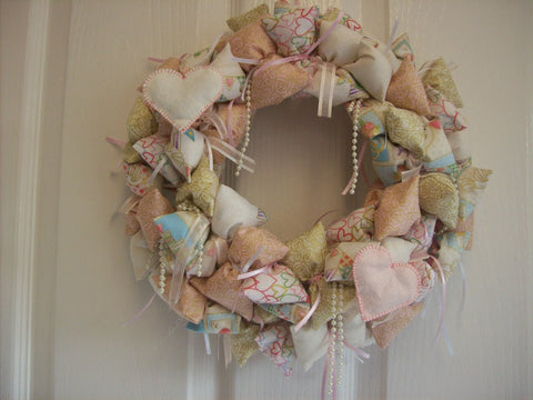 Fabric Wreath - Wedding