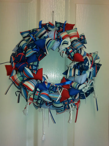 Fabric Wreath - Nautical theme
