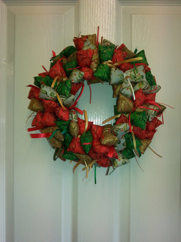 Fabric Wreath Pattern