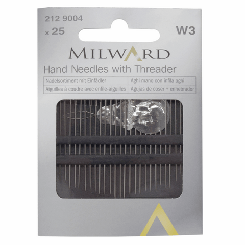 Hand sewing needles with Threader (Assorted)