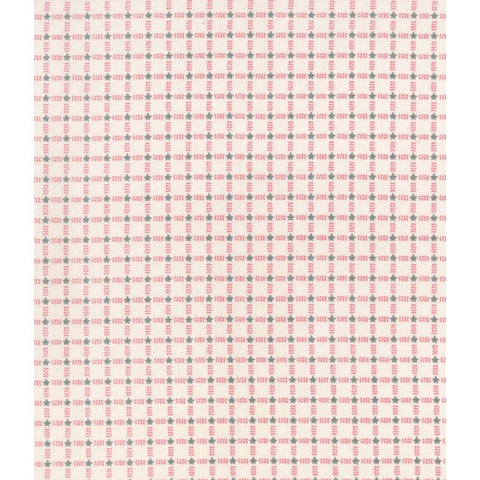 Winter Playground - Checkered Stars - 31911-20 Cream/Pink