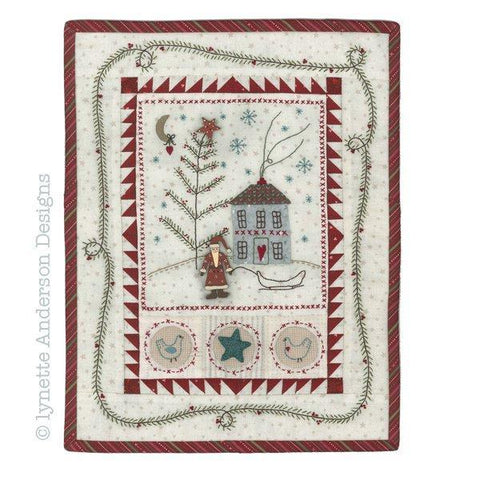 Lynette Anderson  Primitive Christmas Wallhanging pattern