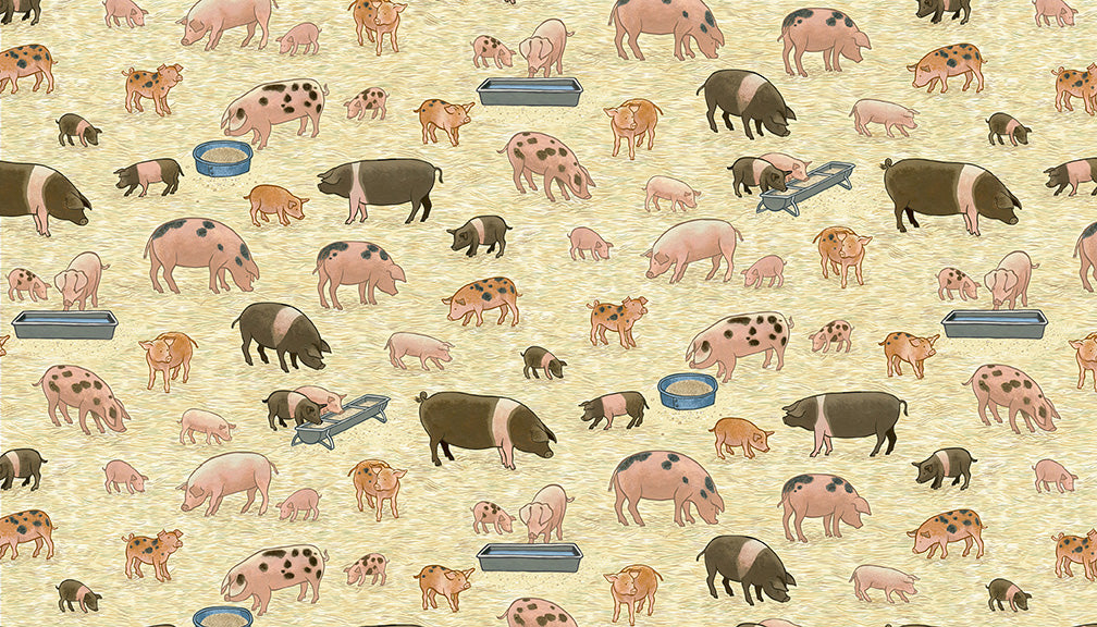 Makower - Village Life - Pigs