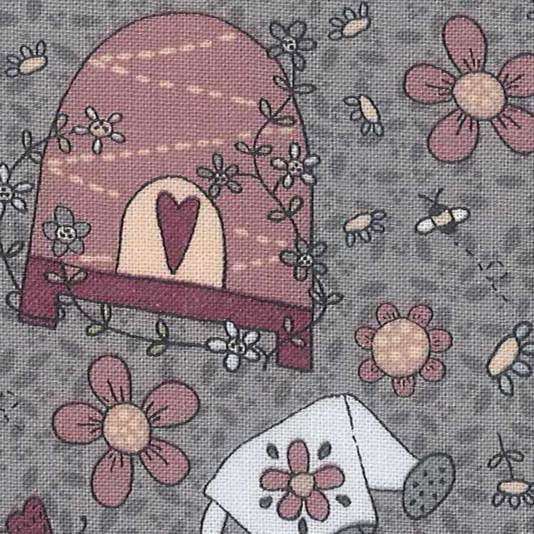 Sweet Garden of Mine - Main Print Grey