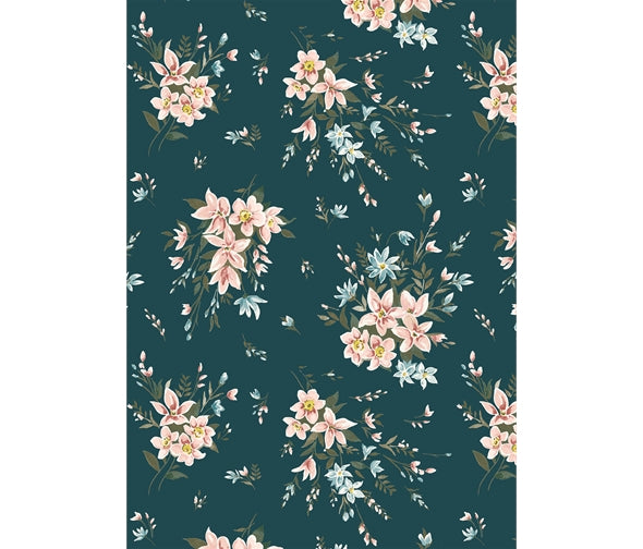 Winterbourne - Bouquet - Forest Green (732C)